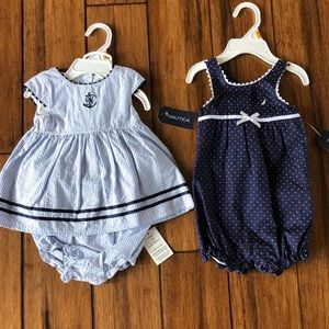 Other - New Nautica dress and romper both 0-3m